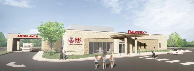 Rendering of the new ER at Anna