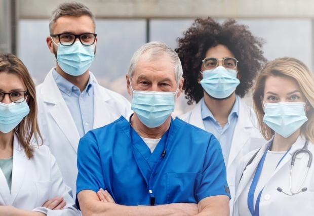 Home Health Doctors in Masks