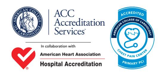 Centro de dolor de pecho y acreditaciones PCI
